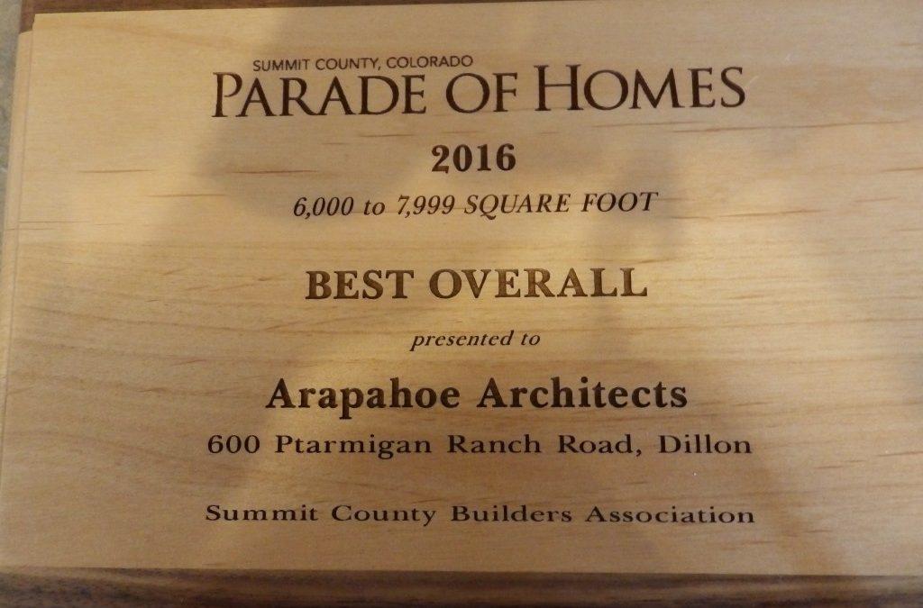 Ptarmigan Ranch Residence – 2016 Parade of Homes awards