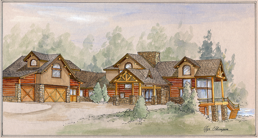 Blue River Home Sketch